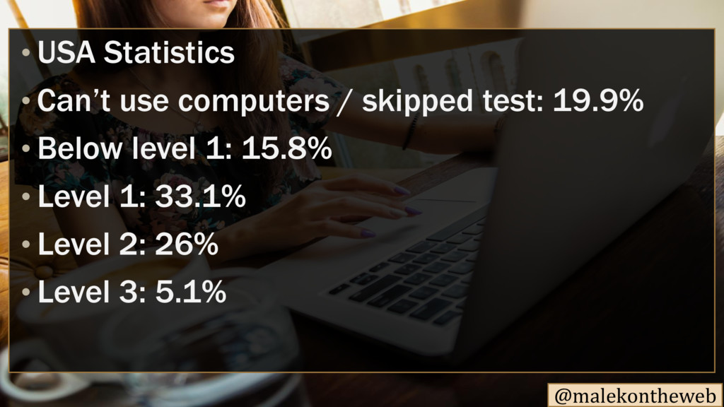 @malekontheweb • USA Statistics • Can't use com...