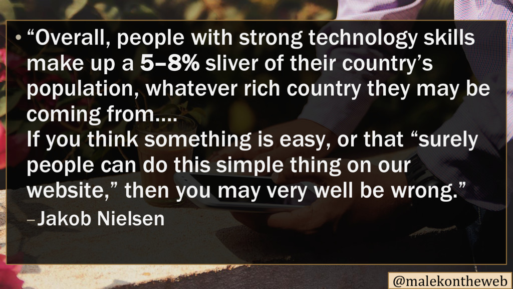 """@malekontheweb """"Overall, people with strong tec..."""