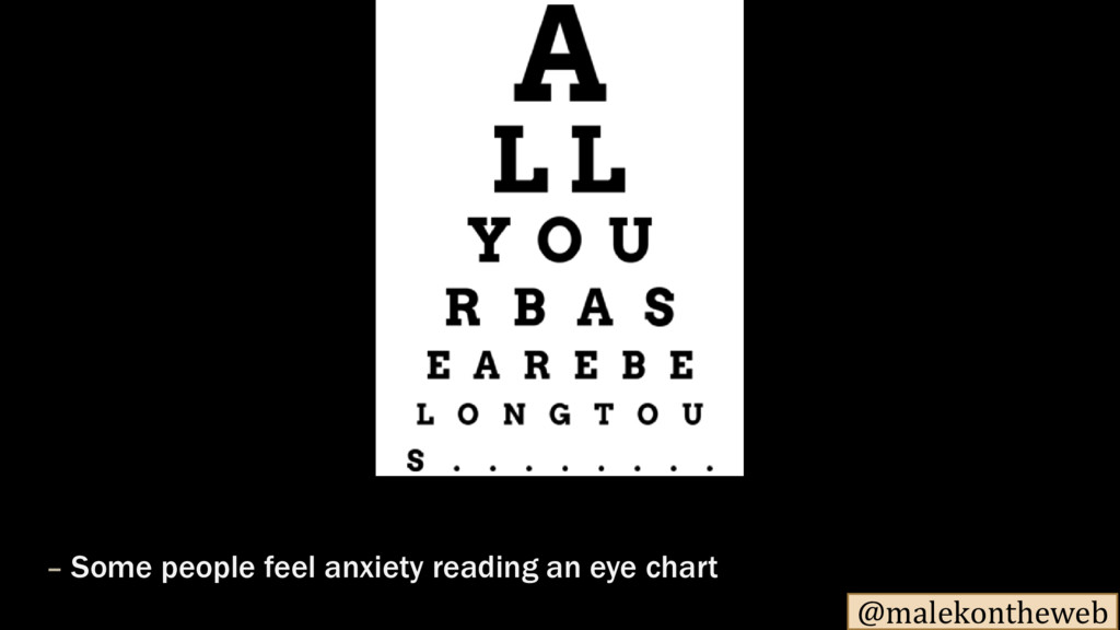 @malekontheweb – Some people feel anxiety readi...