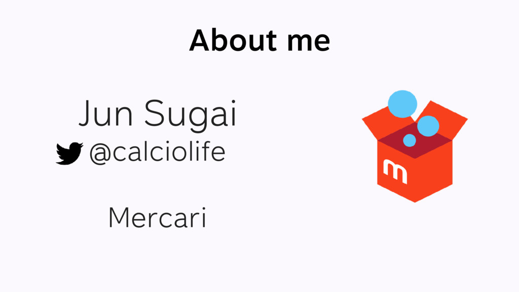 About me Jun Sugai @calciolife Mercari