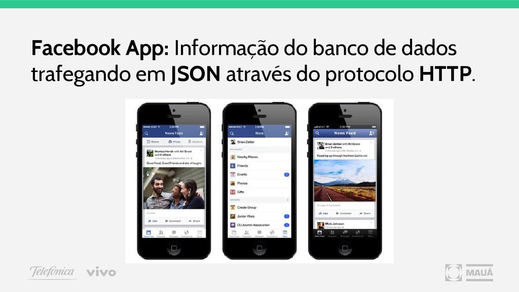 Facebook App: Informação do banco de dados traf...