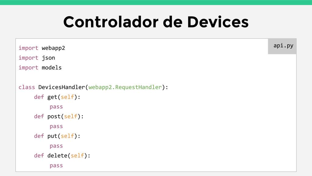 Controlador de Devices import webapp2 import js...