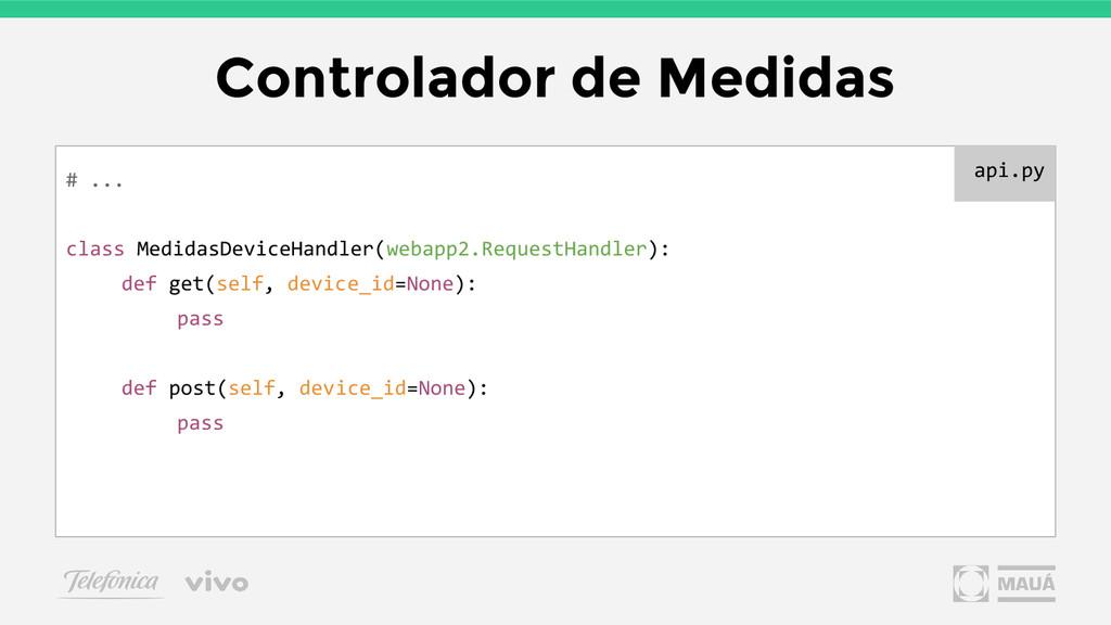 Controlador de Medidas # ... class MedidasDevic...