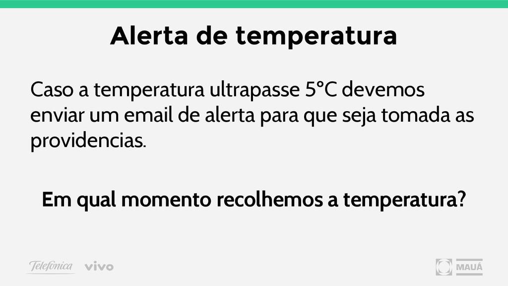 Alerta de temperatura Caso a temperatura ultrap...