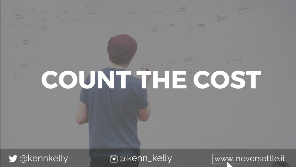 COUNT THE COST @kennkelly @kenn_kelly neversett...