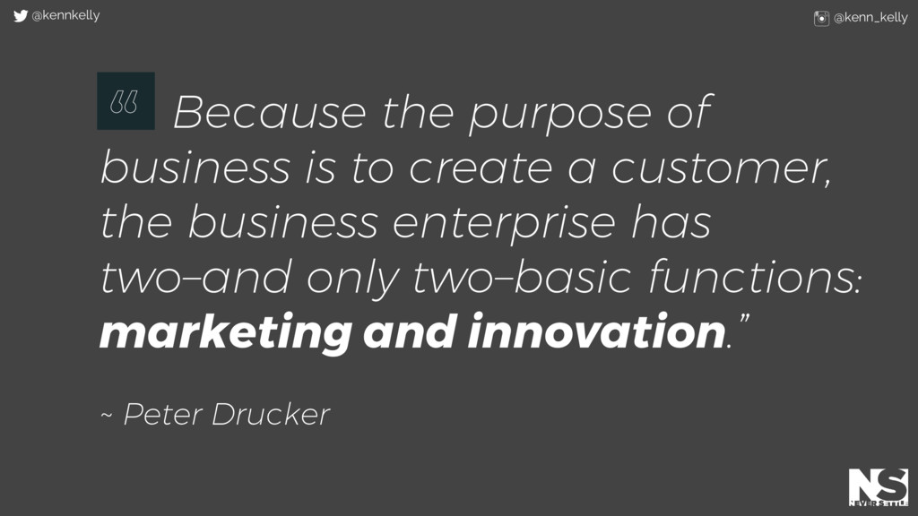 Because the purpose of business is to create a ...