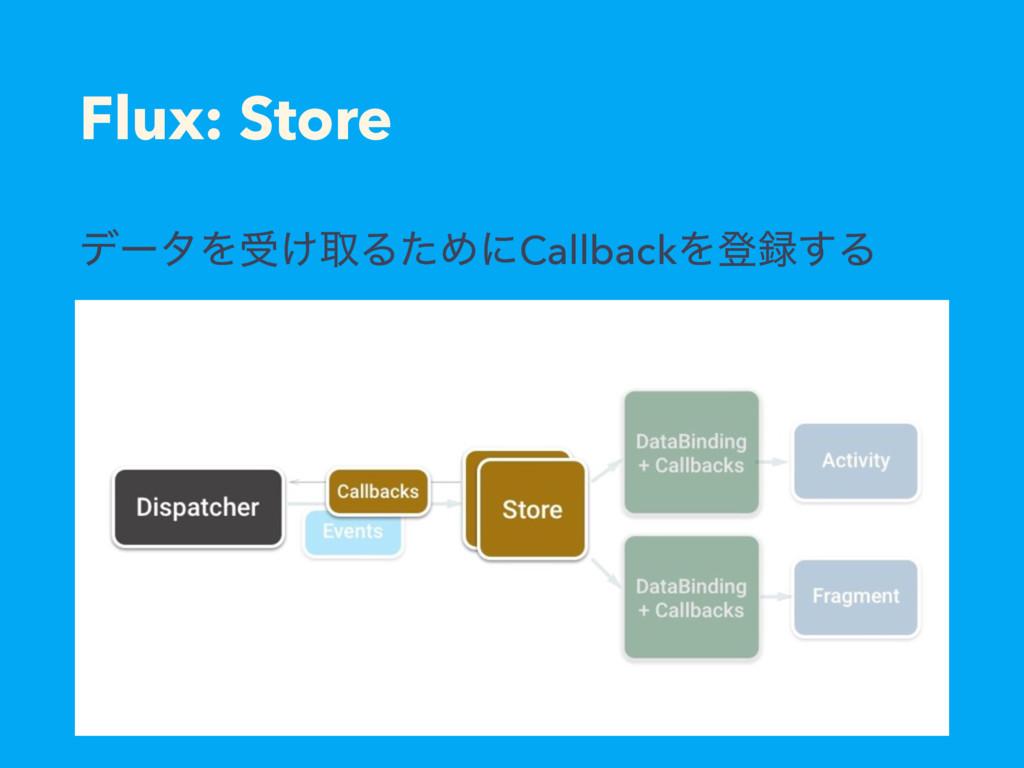 Flux: Store σʔλΛड͚औΔͨΊʹCallbackΛొ͢Δ