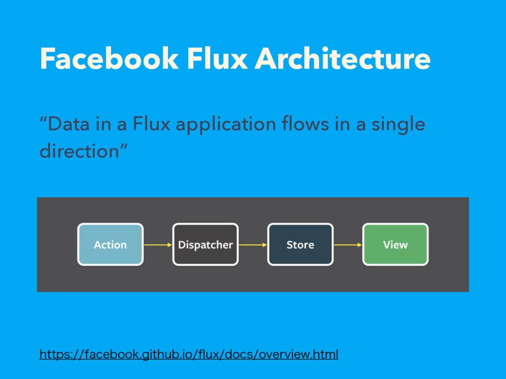 Facebook Flux Architecture IUUQTGBDFCPPLHJU...