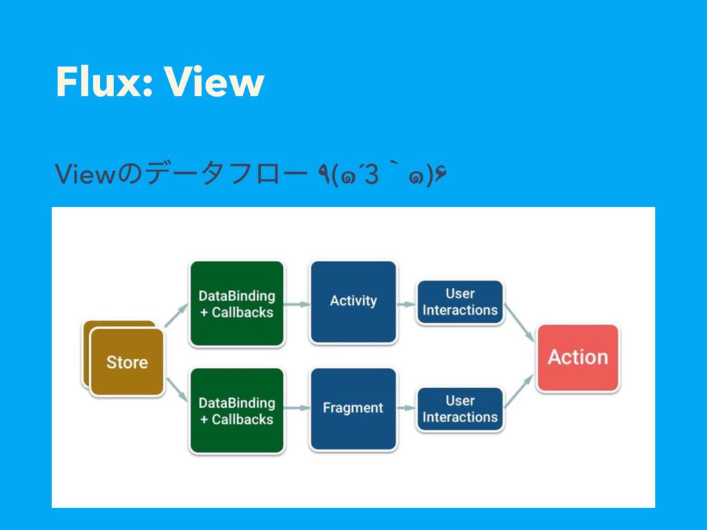 Flux: View Viewͷσʔλϑϩʔ ٩(๑´3ʆ๑)۶