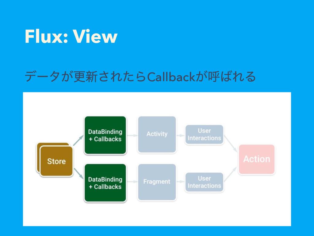 Flux: View σʔλ͕ߋ৽͞ΕͨΒCallback͕ݺΕΔ