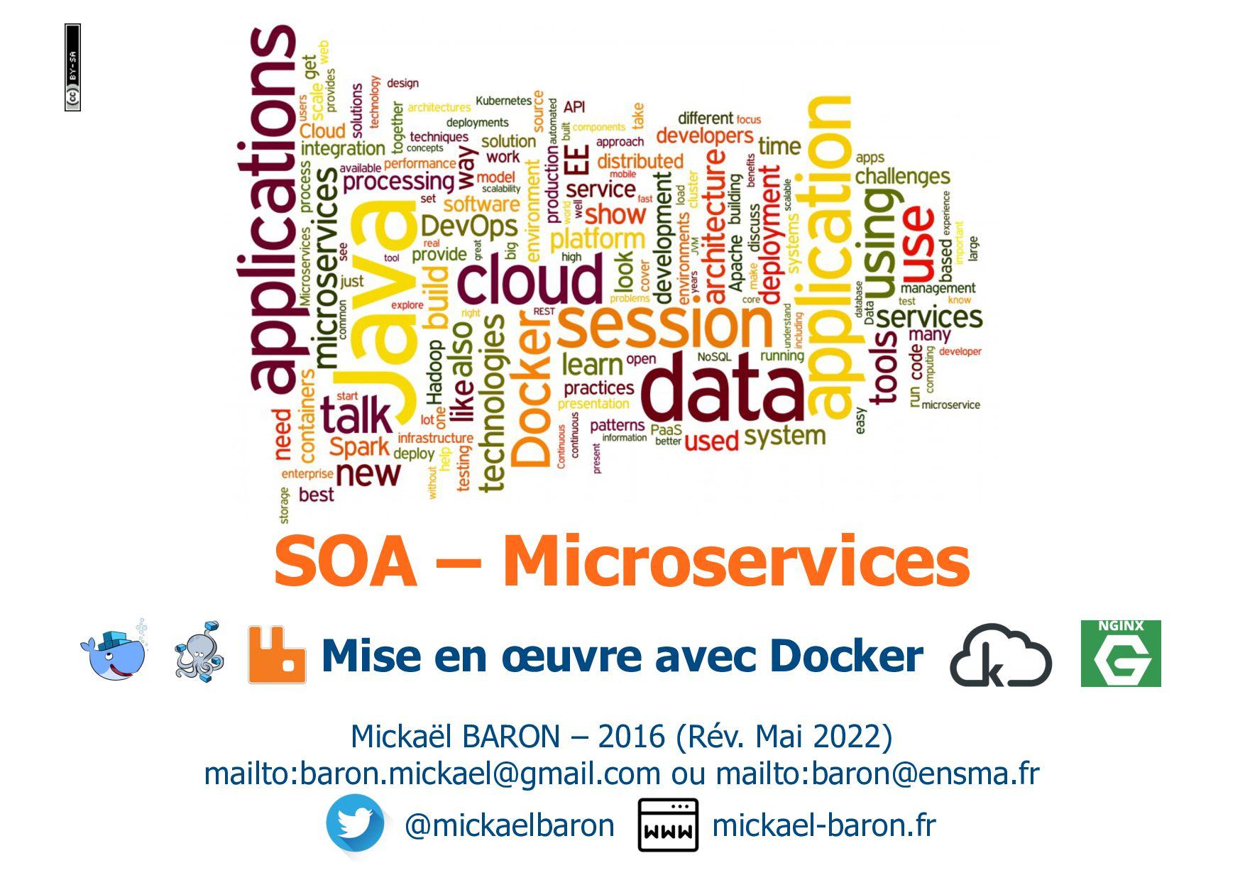 SOA – Microservices Mickaël BARON – 2016 (Rév. ...