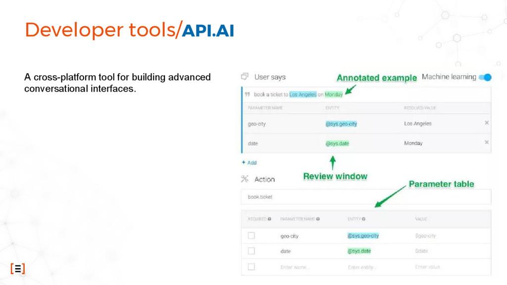 Developer tools/API.AI A cross-platform tool fo...