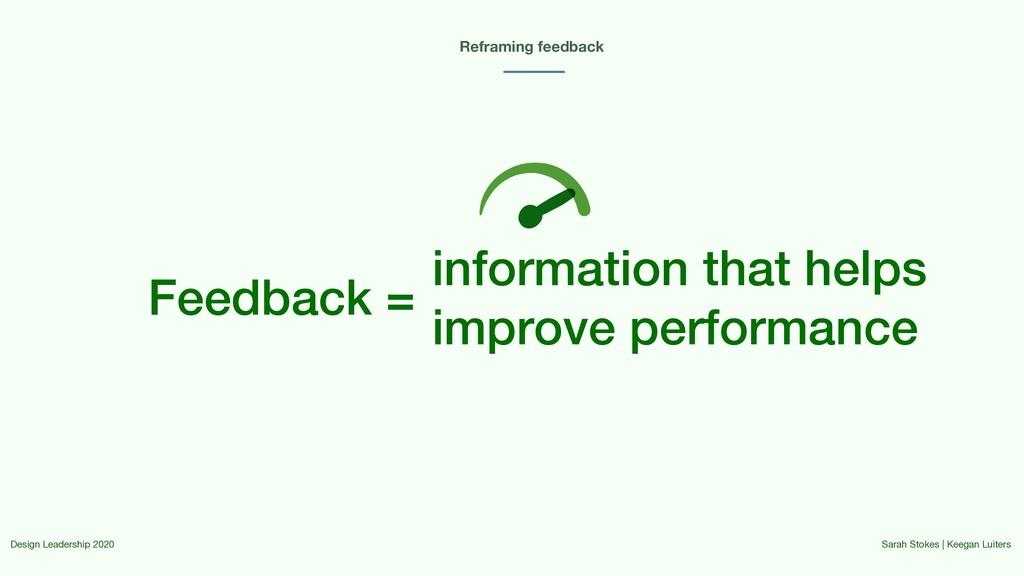 Feedback = Reframing feedback information that ...