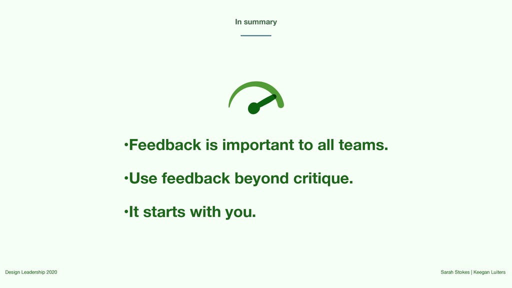 In summary Design Leadership 2020 Sarah Stokes ...