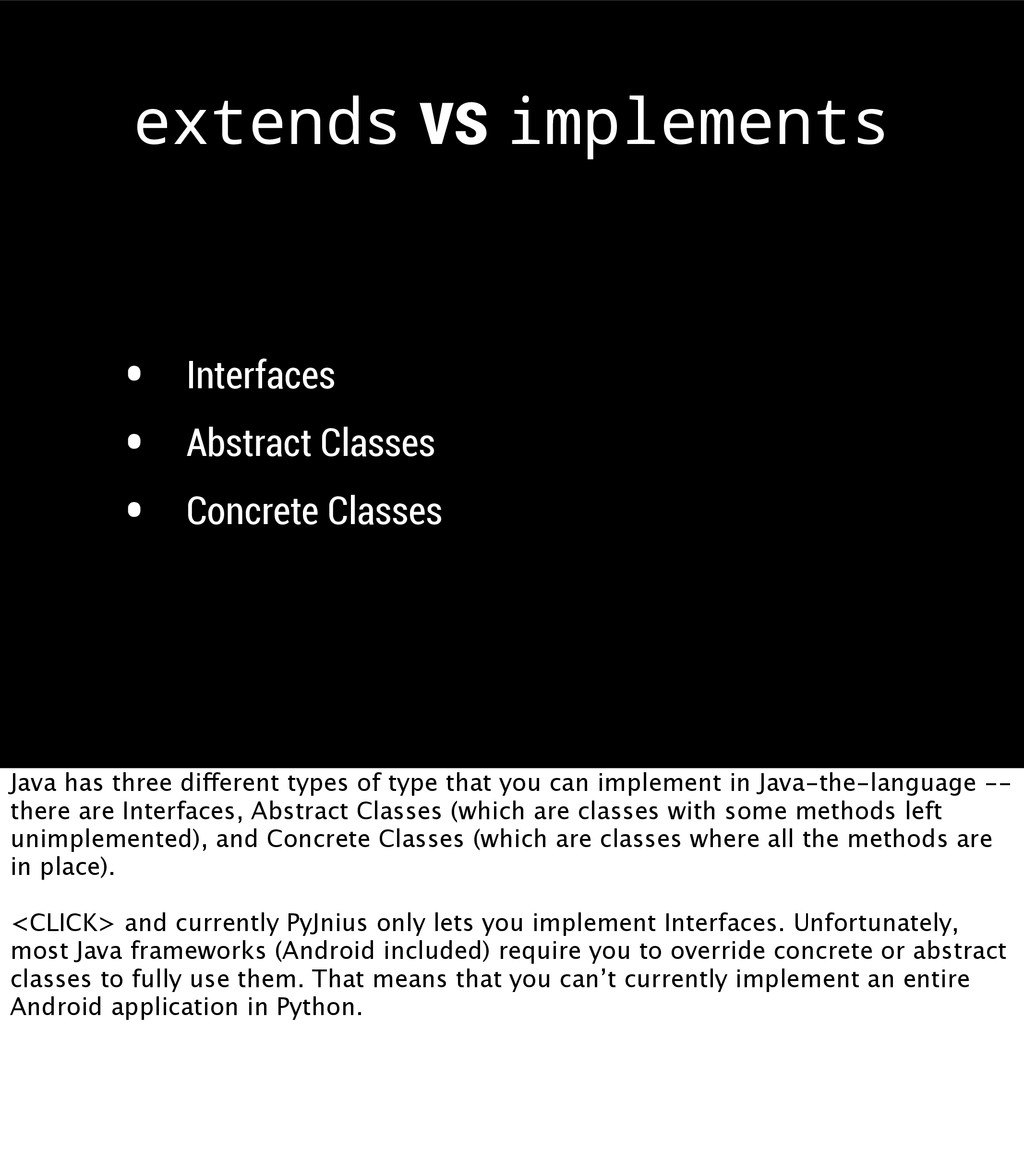• Interfaces • Abstract Classes • Concrete Clas...