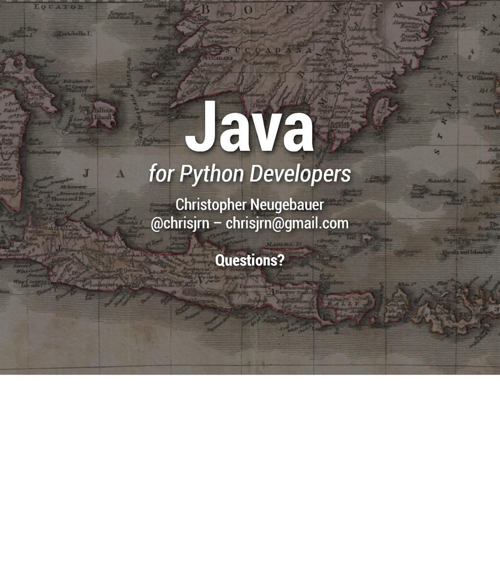 Java for Python Developers Christopher Neugebau...