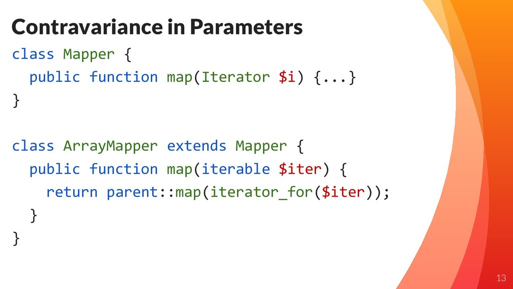 Contravariance in Parameters class Mapper { pub...