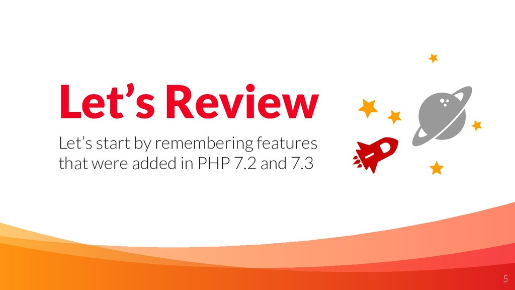 Let's Review Let's start by remembering feature...