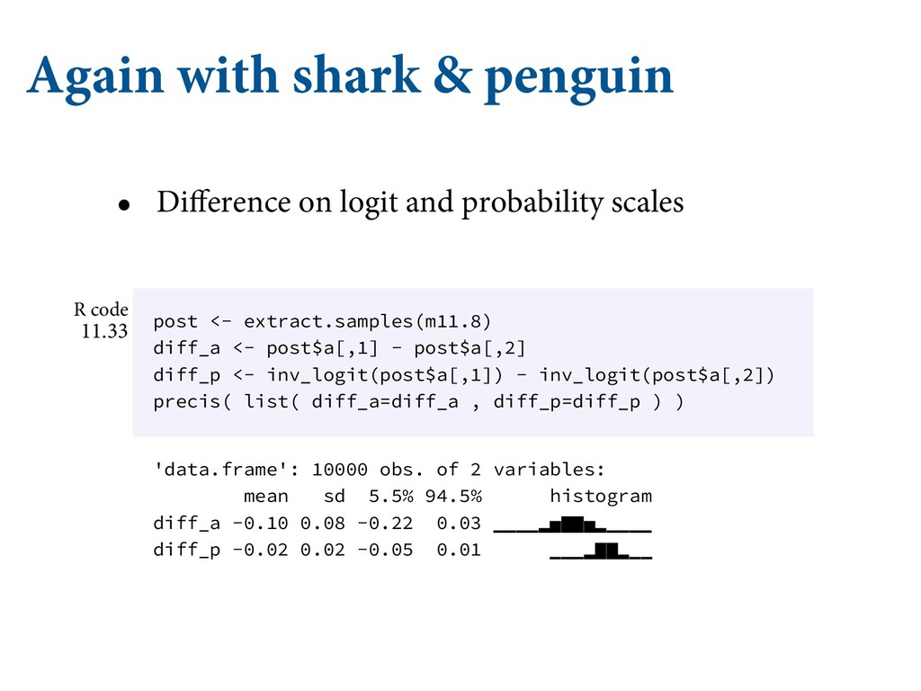 Again with shark & penguin • Difference on logi...