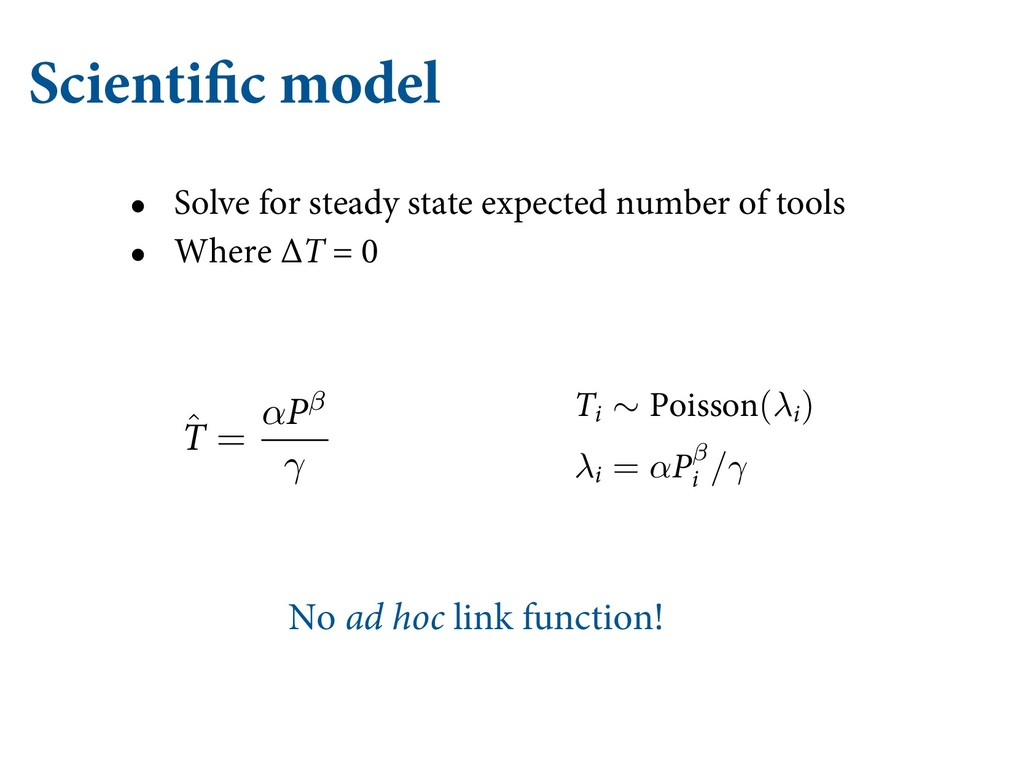 Scientific model • Solve for steady state expec...