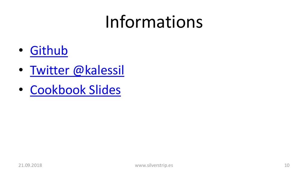 Informations • Github • Twitter @kalessil • Coo...