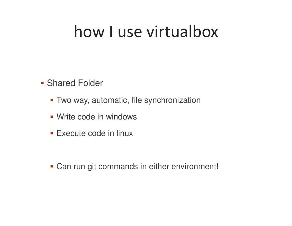 how I use virtualbox Shared Folder Two way, aut...