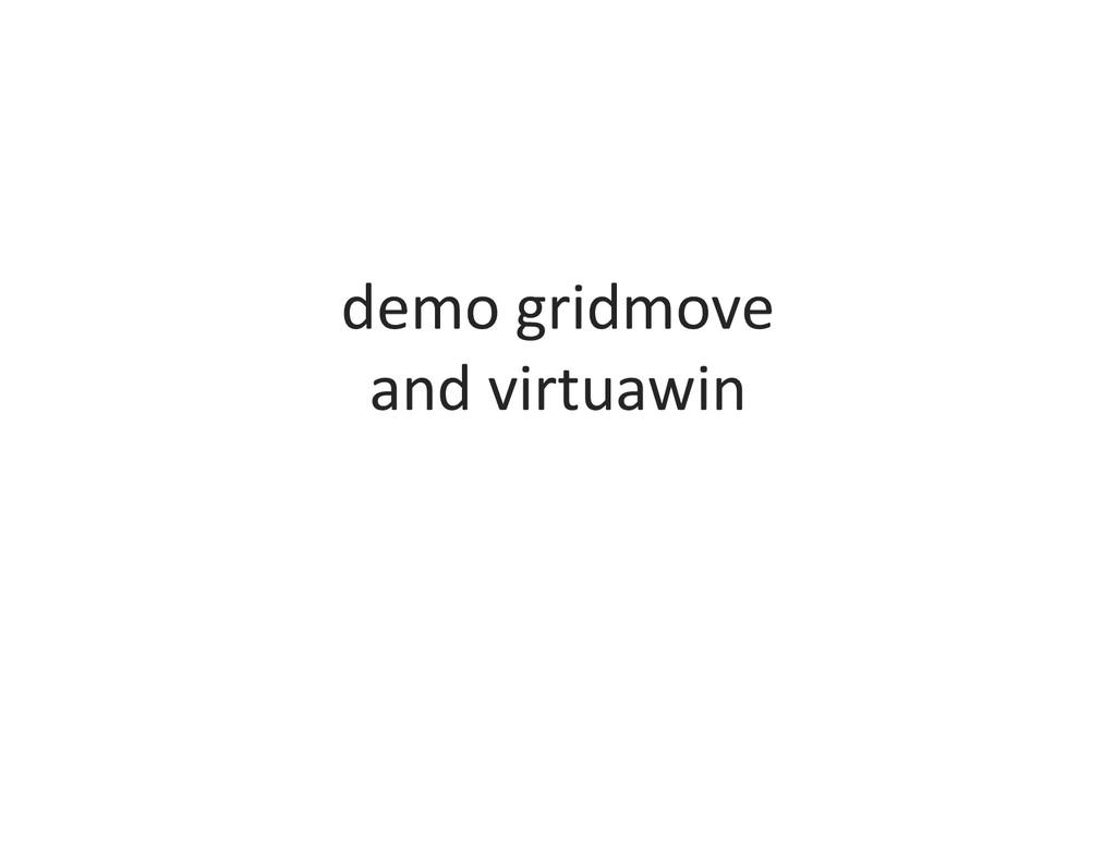 demo gridmove and virtuawin