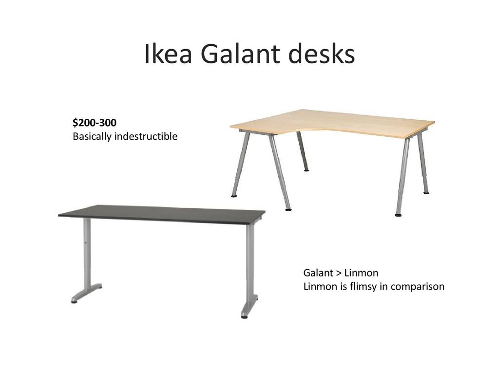 Ikea Galant desks $200-300 Basically indestruct...