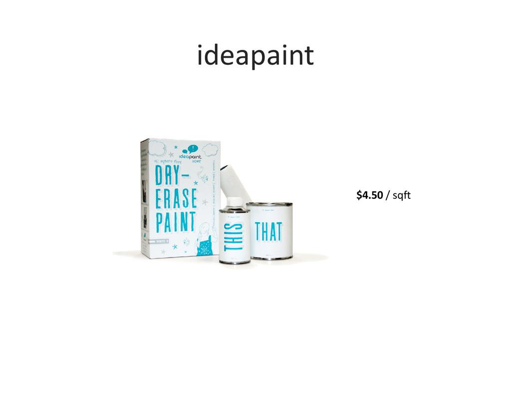 ideapaint $4.50 / sqft