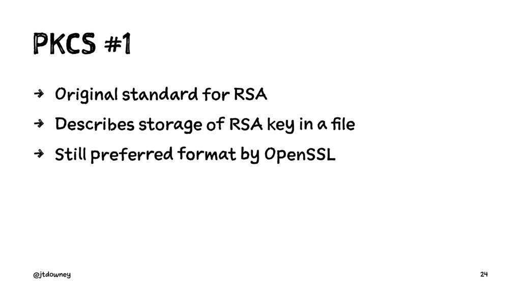 PKCS #1 4 Original standard for RSA 4 Describes...