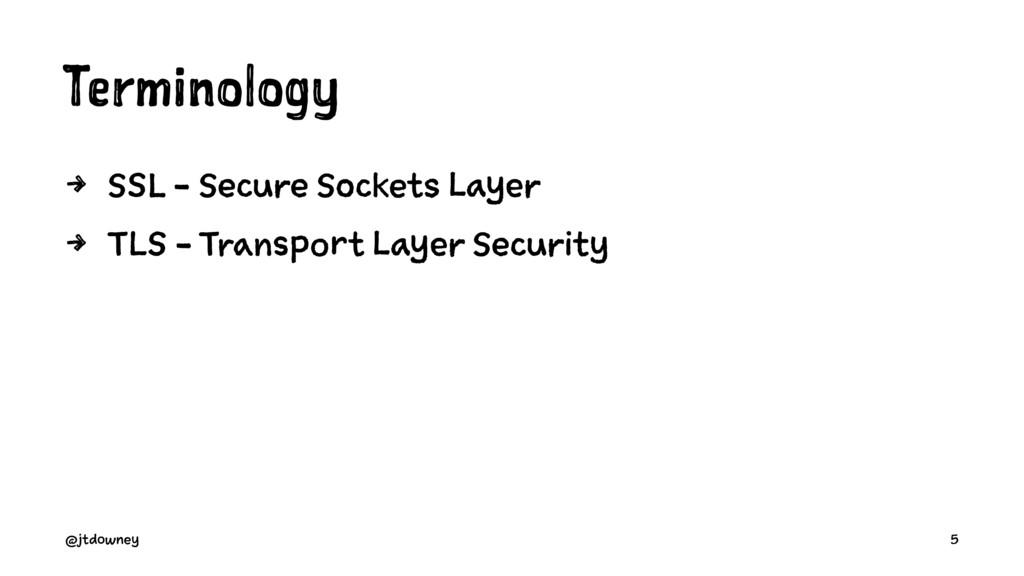Terminology 4 SSL - Secure Sockets Layer 4 TLS ...