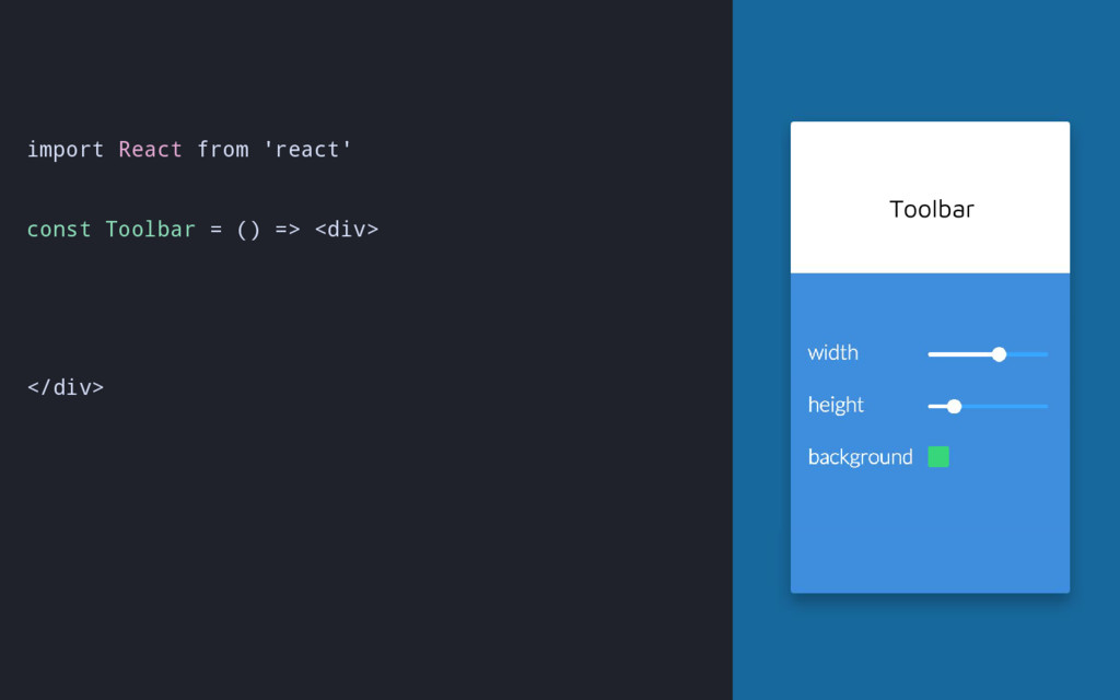 import React from 'react' const Toolbar = () =>...