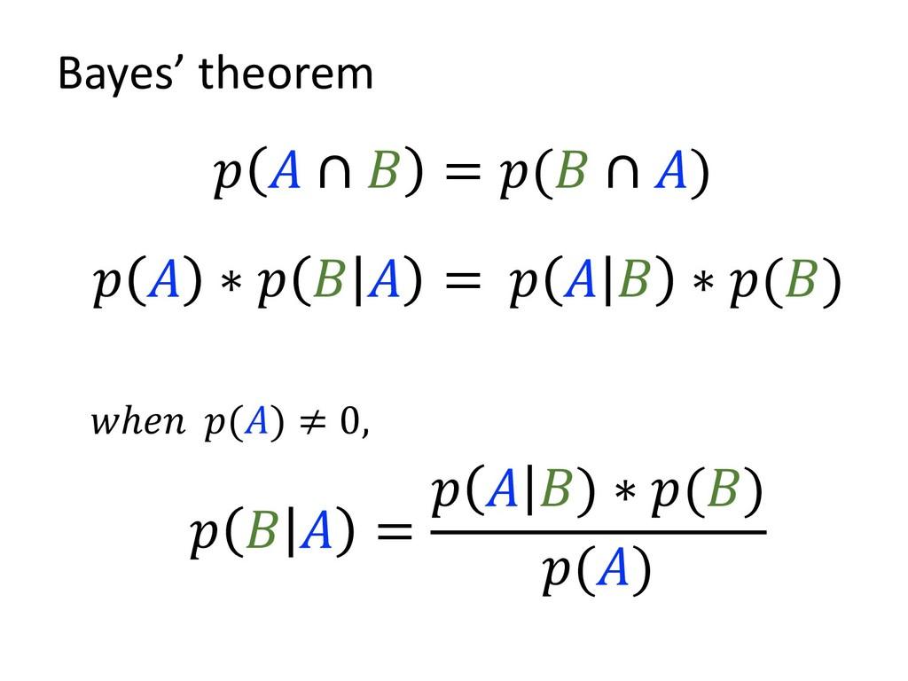 ∗       ∗ () =    =   ) ∗ () () ℎ () ≠ 0, Bay...