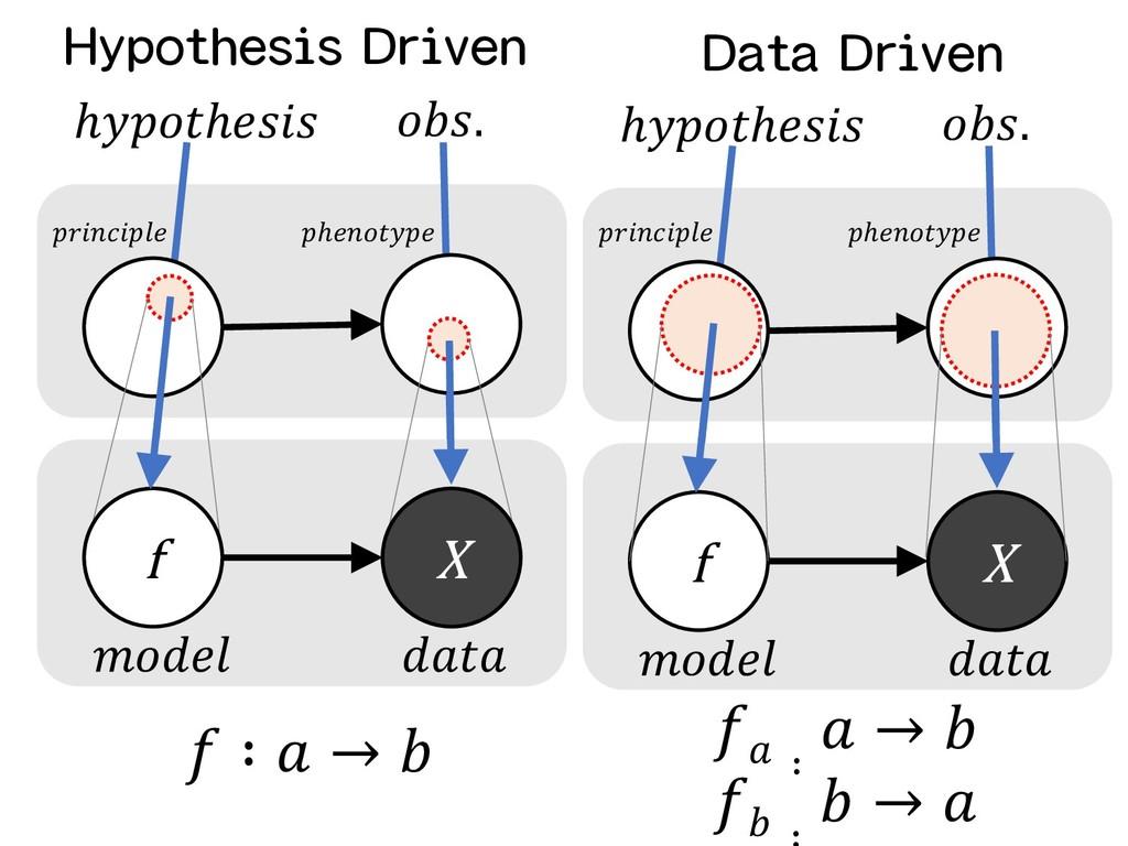 f X ℎℎ .   f X ℎℎ .  ℎ  ℎ Hypothesis Driven D...