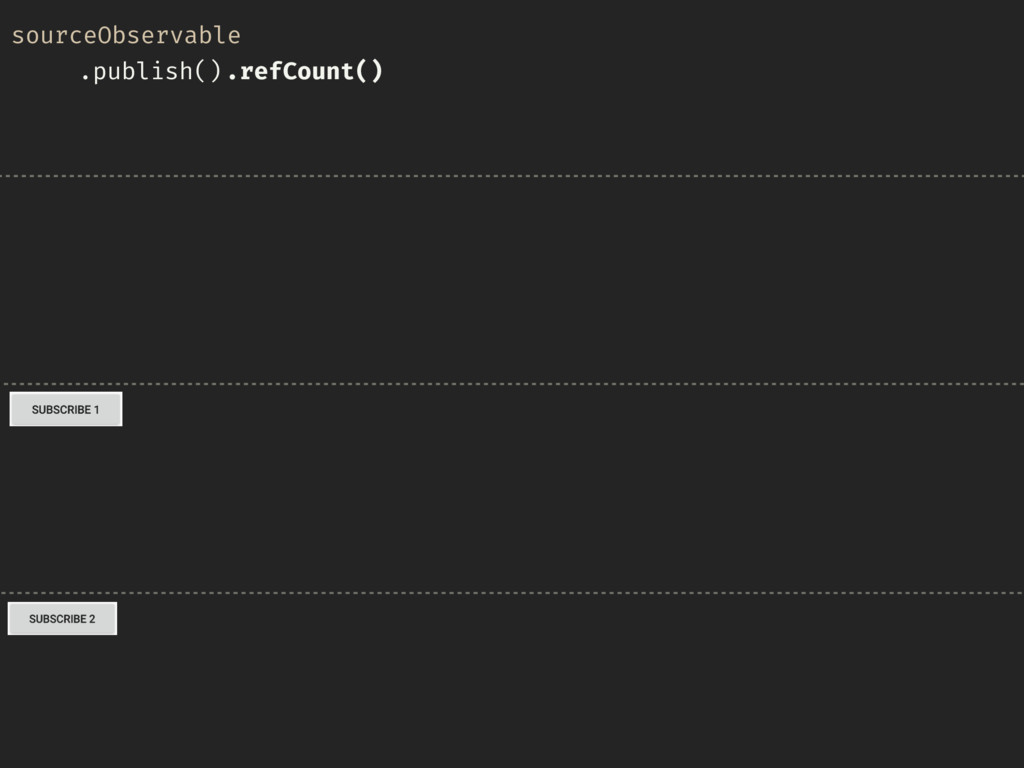 sourceObservable .publish().refCount()