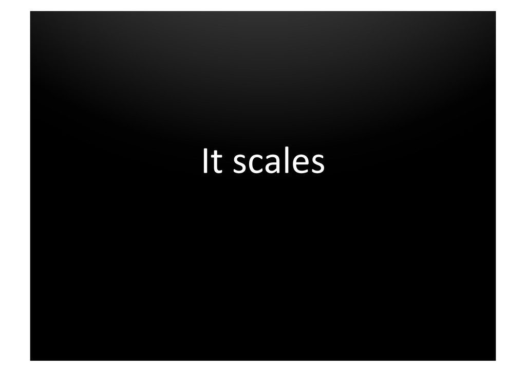 It scales