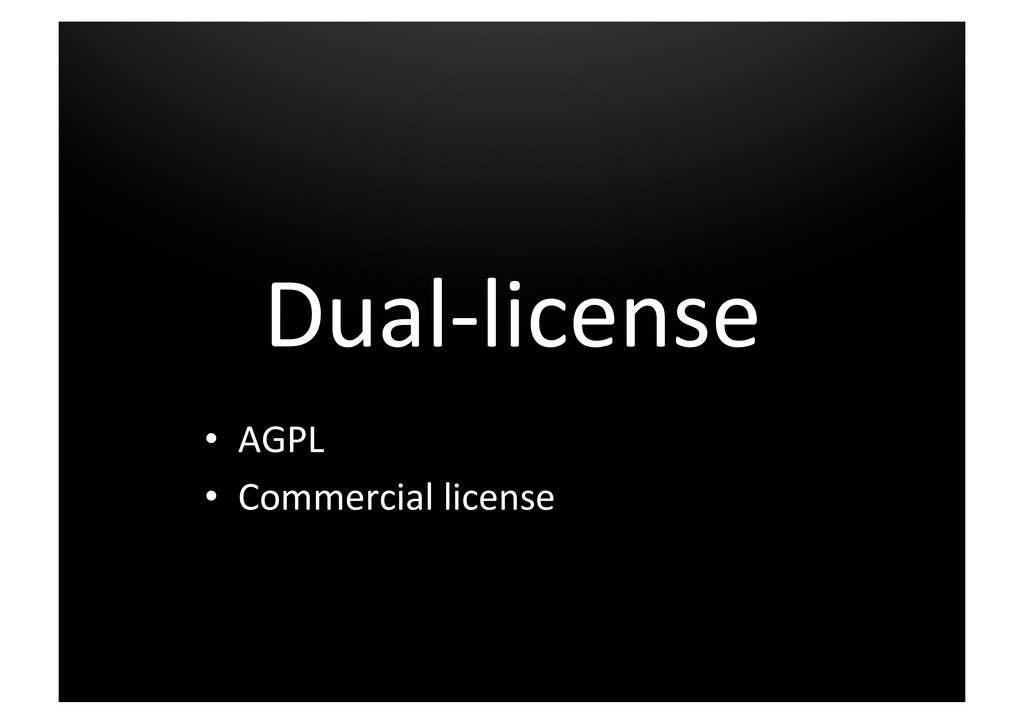 Dual-­‐license	
