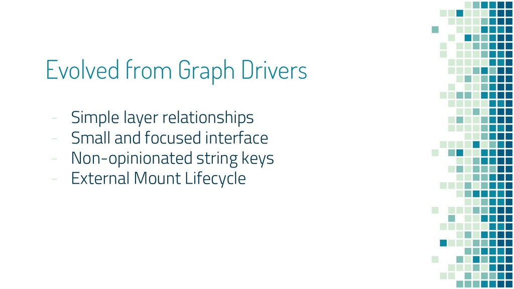 Evolved from Graph Drivers - Simple layer relat...