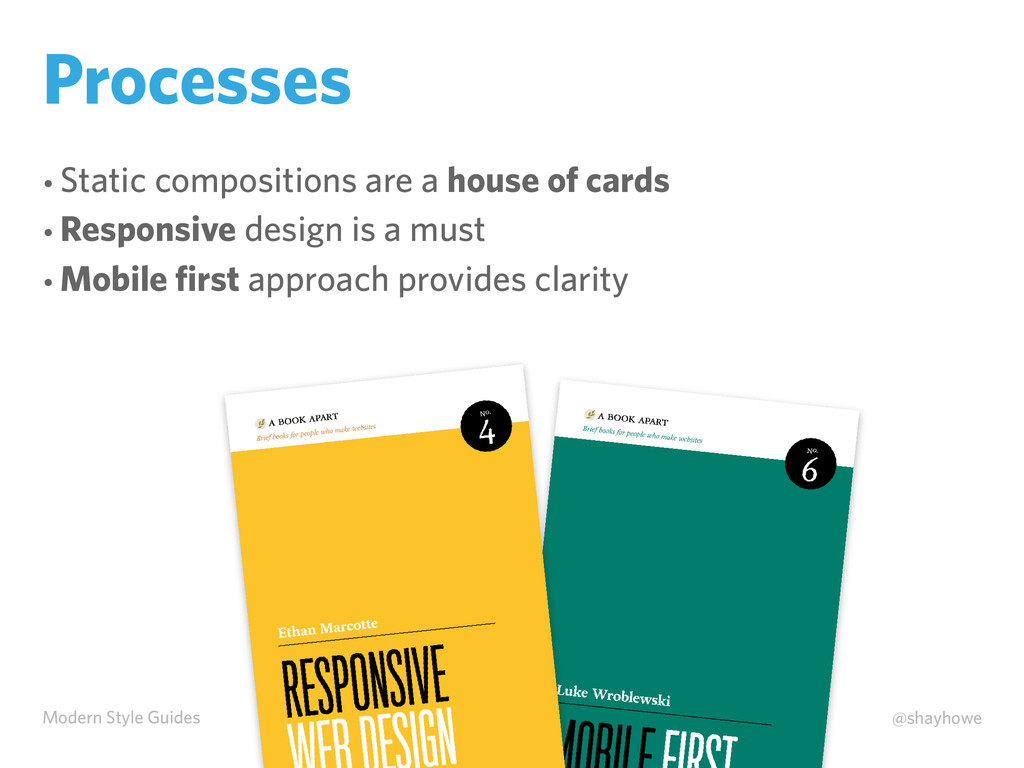 Modern Style Guides @shayhowe Processes • Stati...