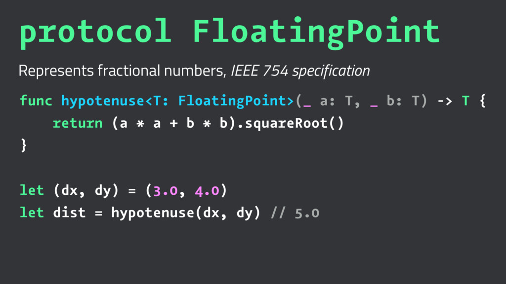 protocol FloatingPoint Represents fractional nu...