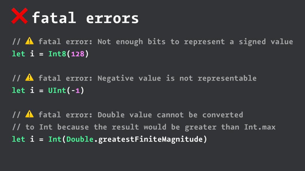 ❌ fatal errors // ⚠ fatal error: Not enough bit...