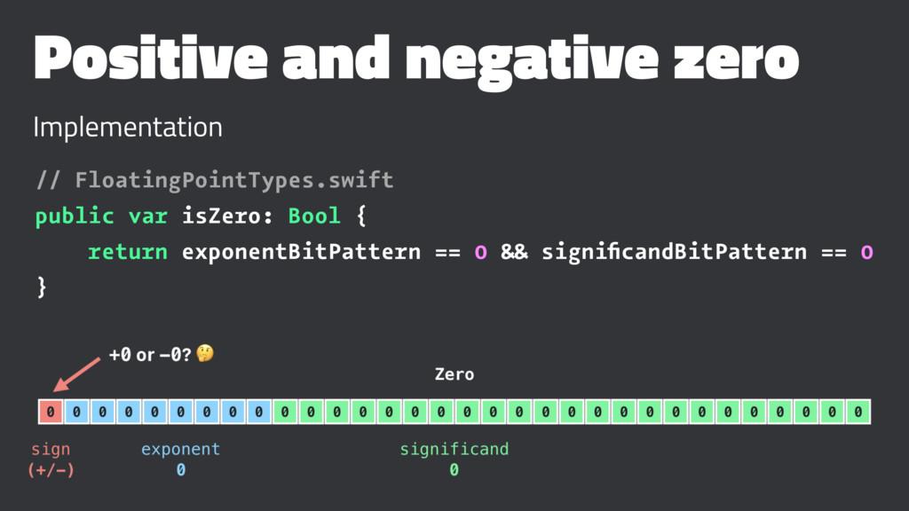 Positive and negative zero Implementation // Fl...