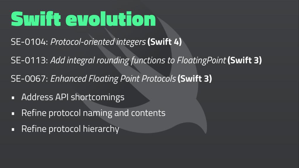 Swift evolution SE-0104: Protocol-oriented inte...