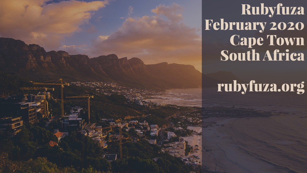 Rubyfuza February 2020 Cape Town South Africa r...