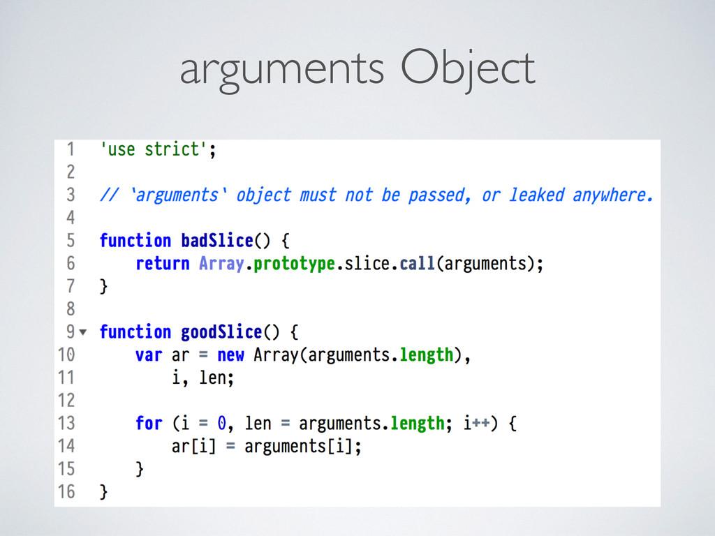 arguments Object