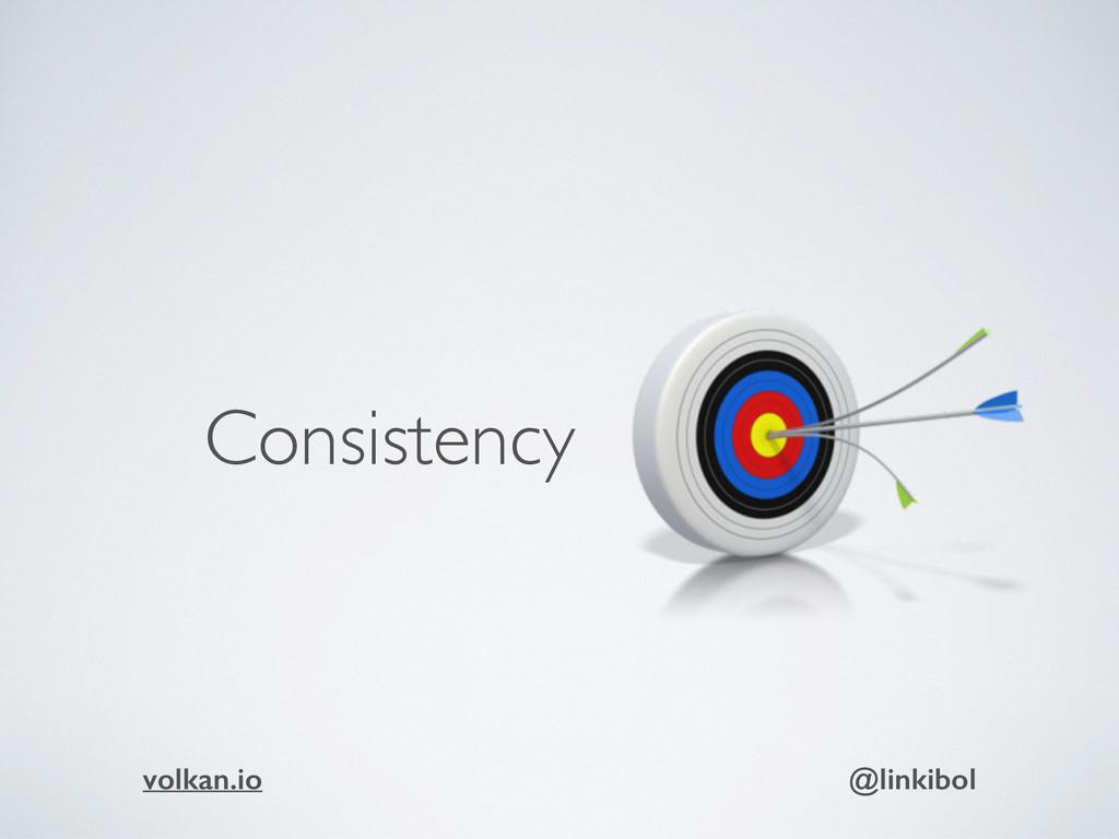 Consistency volkan.io @linkibol