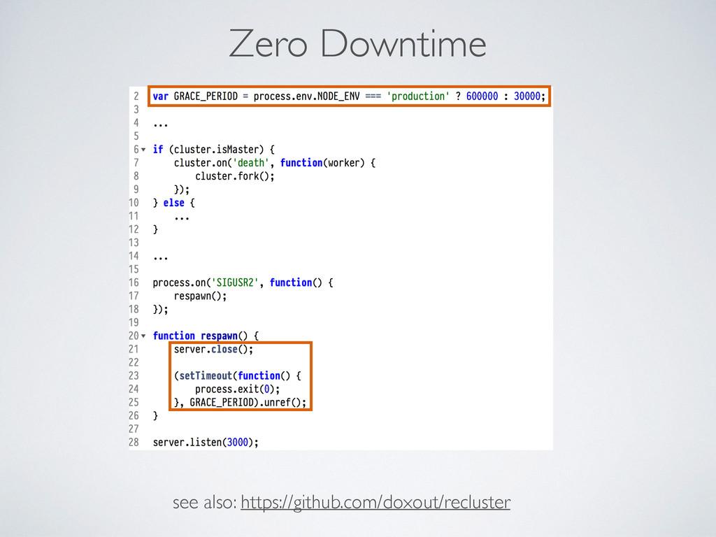 Zero Downtime see also: https://github.com/doxo...