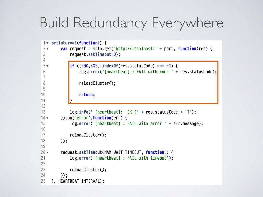 Build Redundancy Everywhere