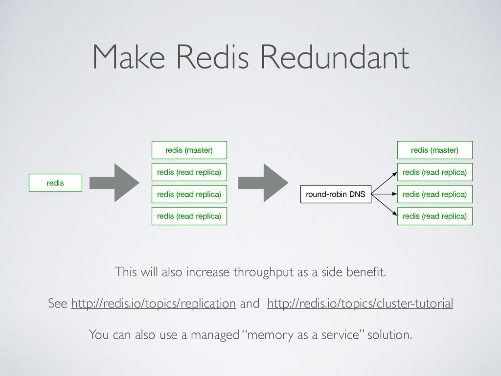 Make Redis Redundant redis redis (master) redis...