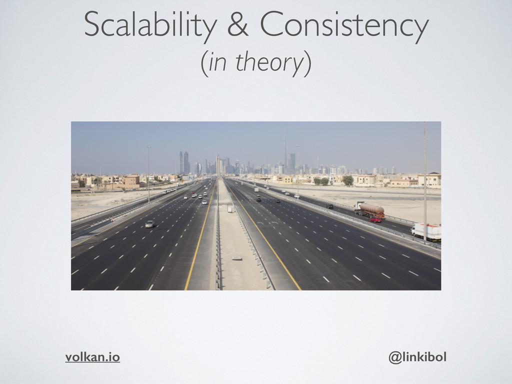Scalability & Consistency (in theory) volkan.io...